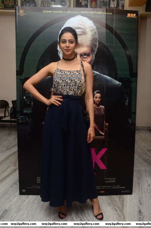 Rakul Preet Singh descended at the special screening of Pink in Hyderabad