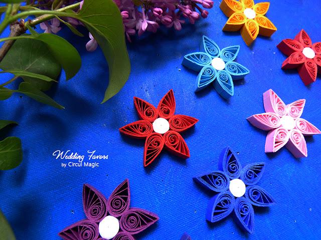 Marturii Handmade pt Nunta sau Botez: Flori cu 6 petale