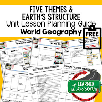 five themes of geography lesson plans, world geography lesson plans, geography activities, world geography games, world geography middle school, world geography high school