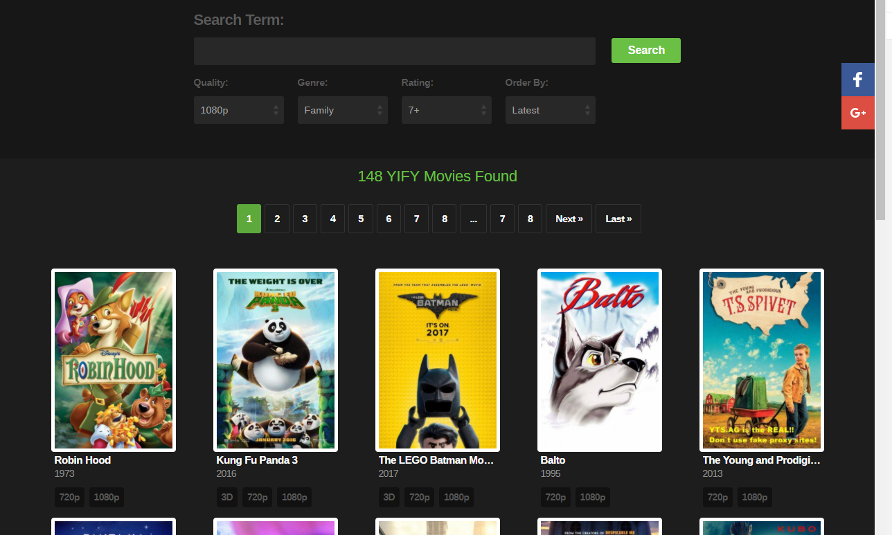 yify movie torrents