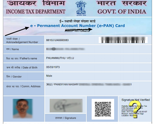 Beware Holders of Multiple PAN Cards - e-PAN launched