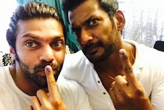 Stars casts their votes for Tamil Nadu Elections