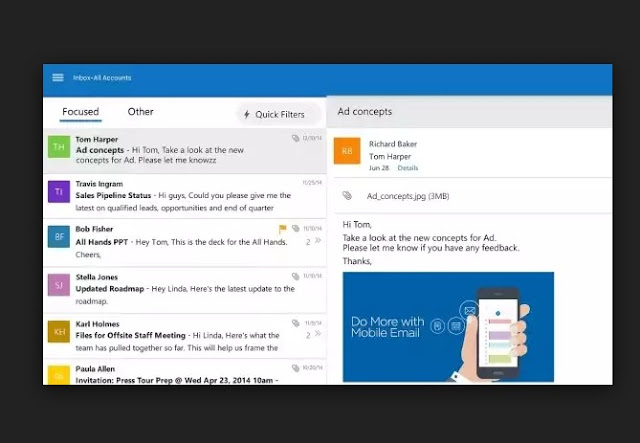 What You Will Be Seeing In The New Outlook for Android, iOS.