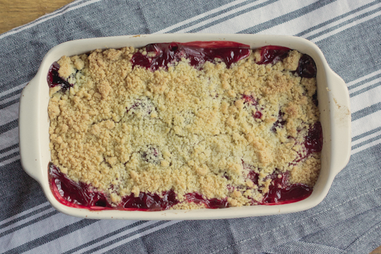 End of summer crumble