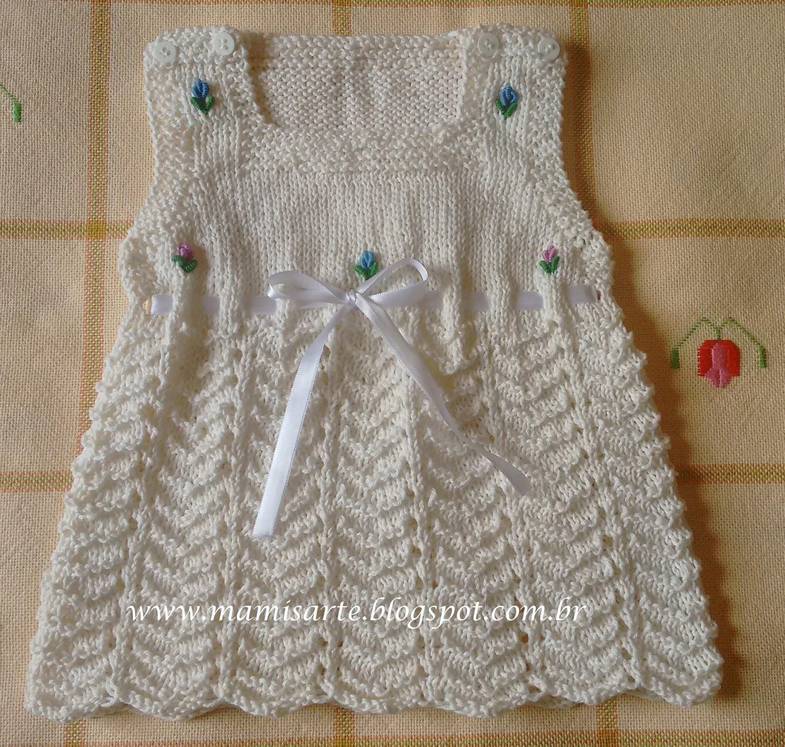 Crochet et tricot da mamis vestido ver o beb em tricot - Cote 2 2 tricot ...