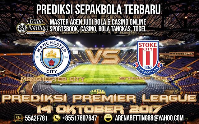 Prediksi Premier League Manchester City vs Stoke City 14 Oktober 2017