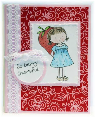 Strawberry Girl Inky Antics Rubber Stamps
