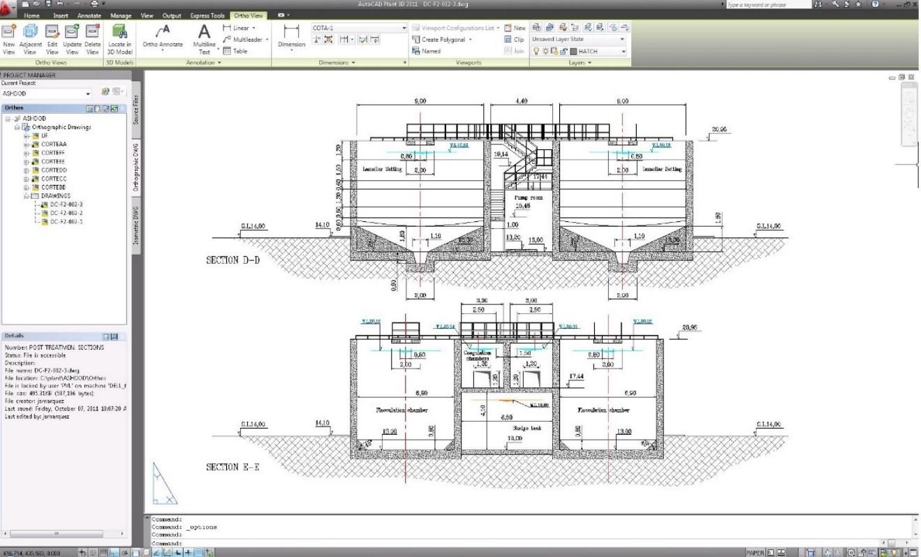 planos ortograficos plant 3d