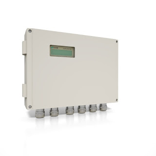 Non-invasive ultrasonic volumetric flow meter with temperature measurement for HVAC metering