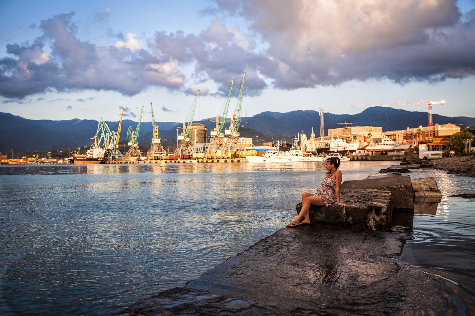Fotografia, Gruzja, Batumi, Morze Czarne, sesja ciążowa, secondhand, SH