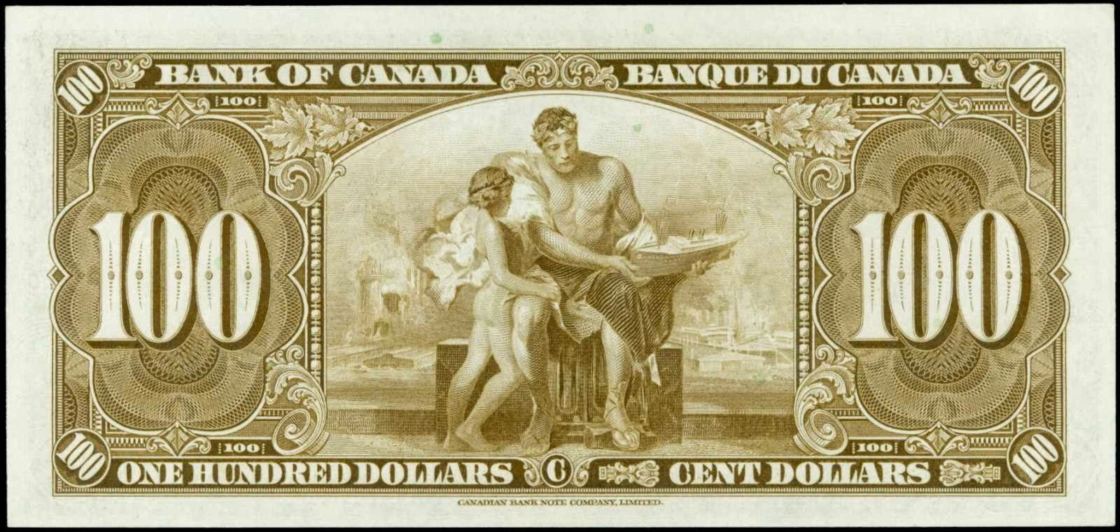 1937 100 Dollar Bill from The Bank of Canada