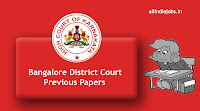 Bangalore District Court Peon Previous Papers