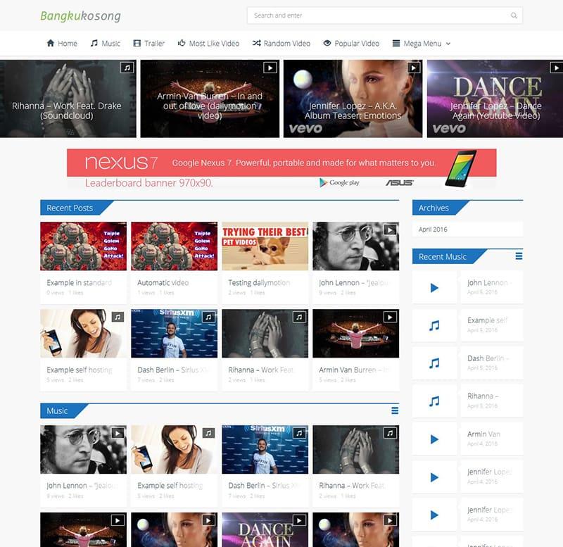 Download Template Bangkukosong video wordpress theme woocommerce