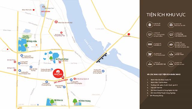 vị trí đắc địa của dự án Hinode City 201 Minh Khai