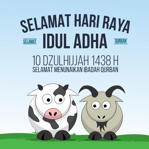 Ucapan Selamat Idul Adha 1438 H / 2017 M