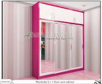 Lemari sliding minimalis unit cabinet Lv