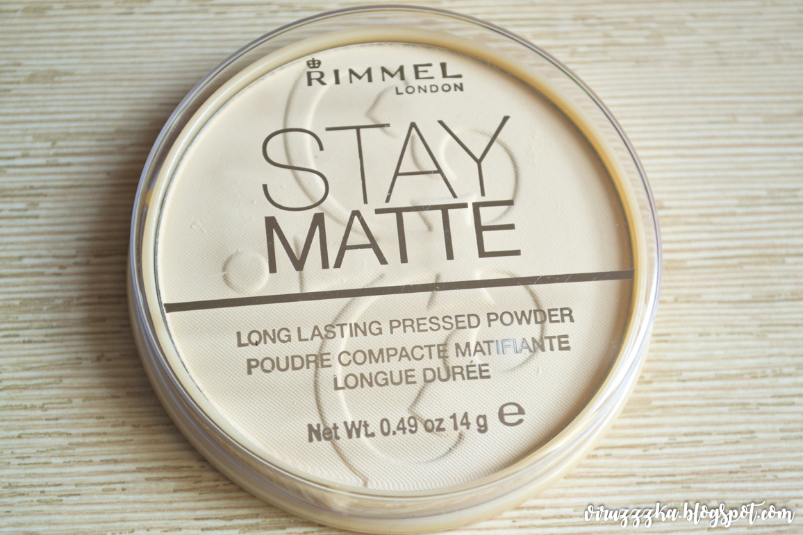 Rimmel Stay Matte Long Lasting Pressed Powder 001 Transparent Review & Swatches