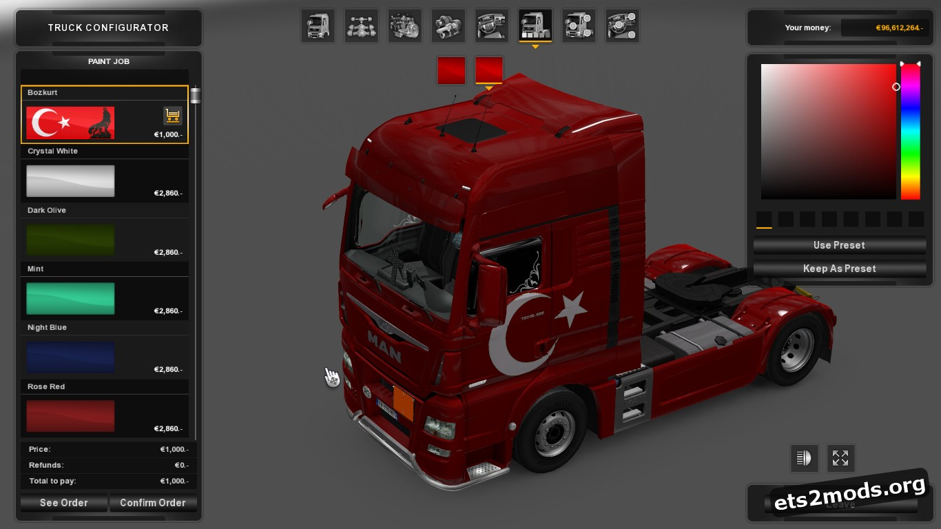 Bozkurt Skin for MAN Euro 6