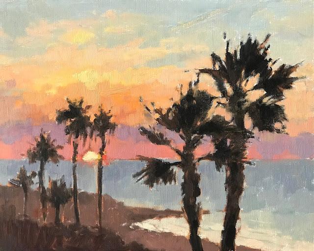 #432 'Sunrise, Gran Canaria' x 2