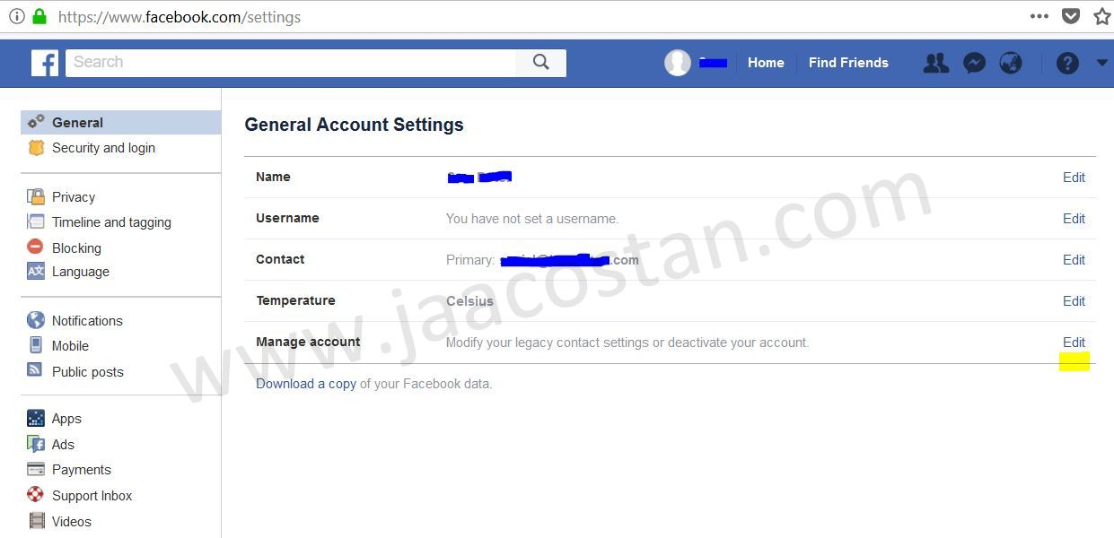 delete all facebook data
