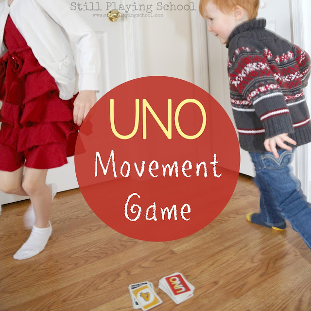 Uno Movement Game For Kids Still Playing School