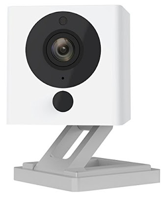Wyze Labs 1080p HD Wireless Smart Home Camera with Night Vision, 2-Way Audio, White (WYZEC1)