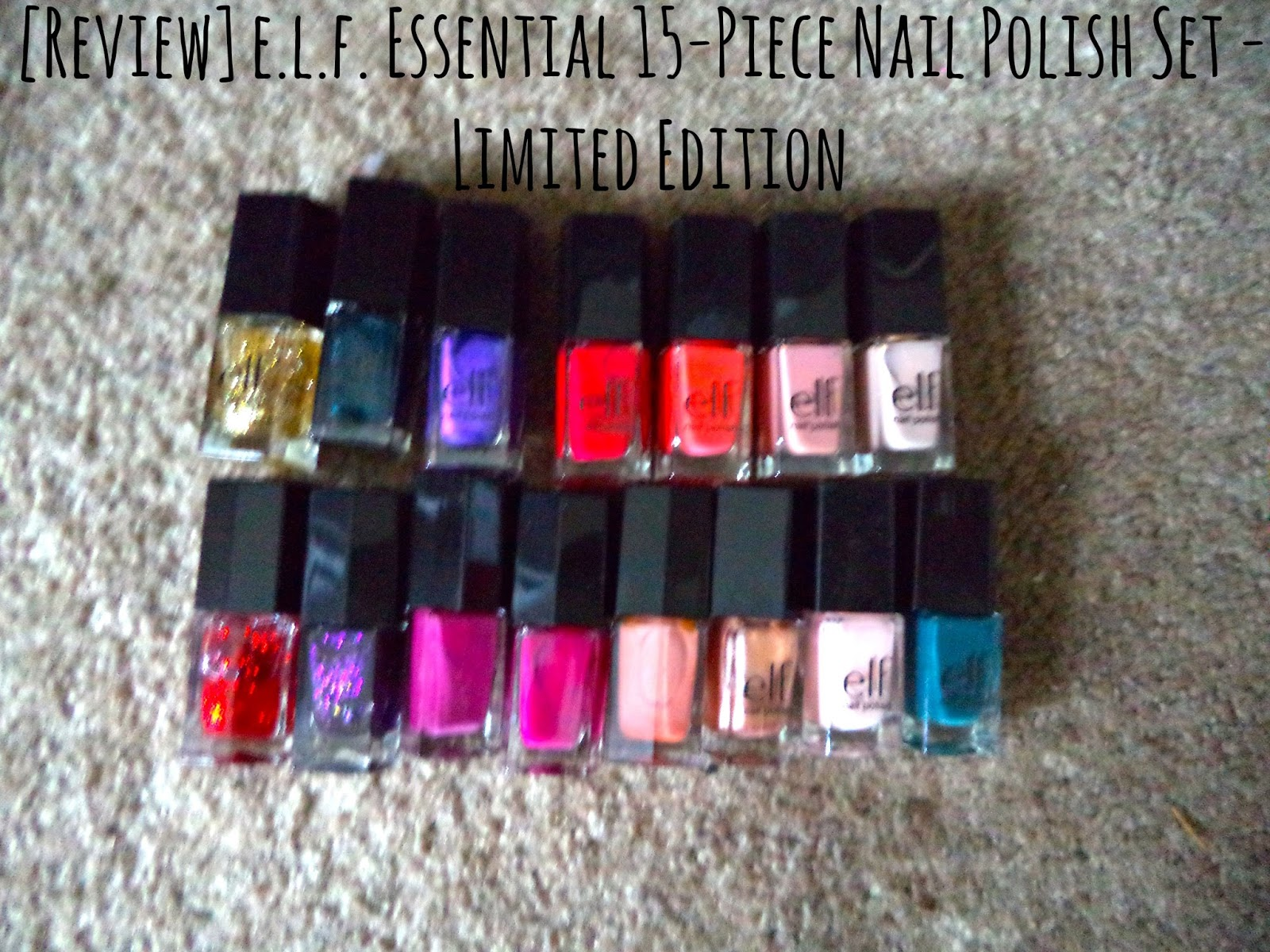 Review e.l.f. Essential 15 Piece Nail Polish Set Limited Edition