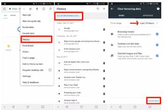 Cara Menghapus History Browser di Galaxy Note 9