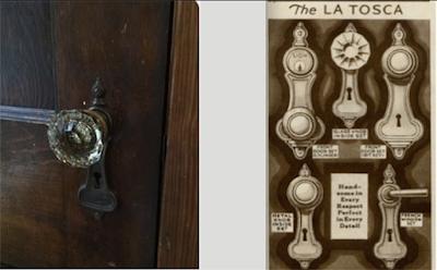 Sears LaTosca door hardware from 1930 building supplies catalog