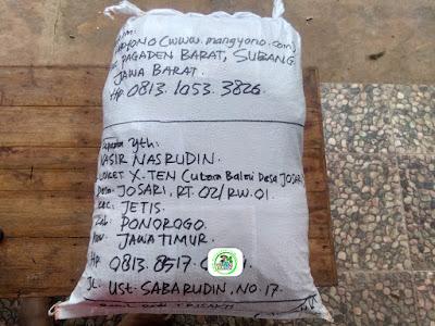 Benih pesanan NASIR N Ponorogo, Jatim.   (Sesudah Packing)