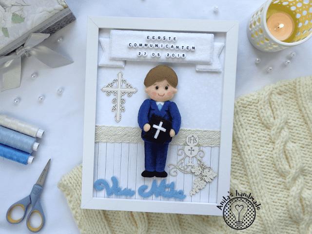 Pamiątka Pierwszej Komunii Świętej dla chłopca