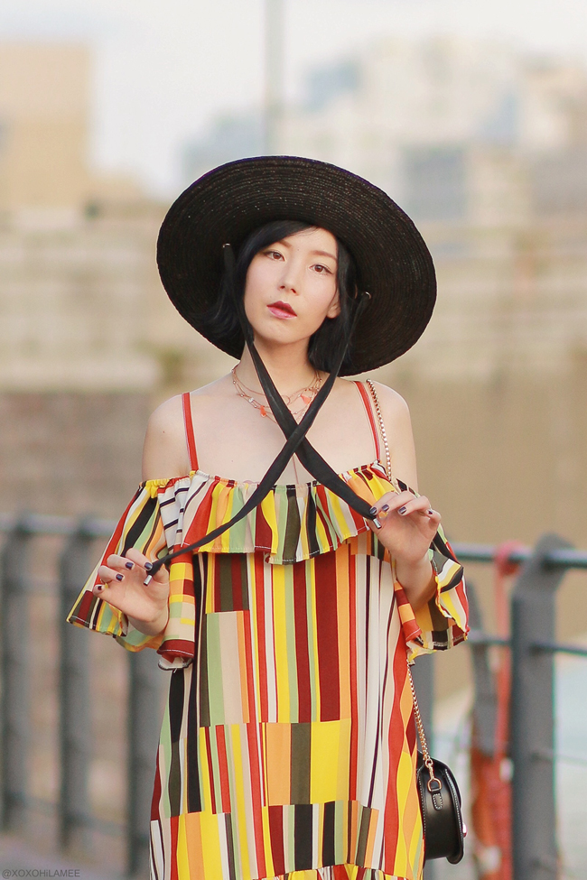 Japanese Fashion Blogger,MizuhoK,20190812OOTD, SheIn=dress,MOUSSY=hat,ZARA= sandals