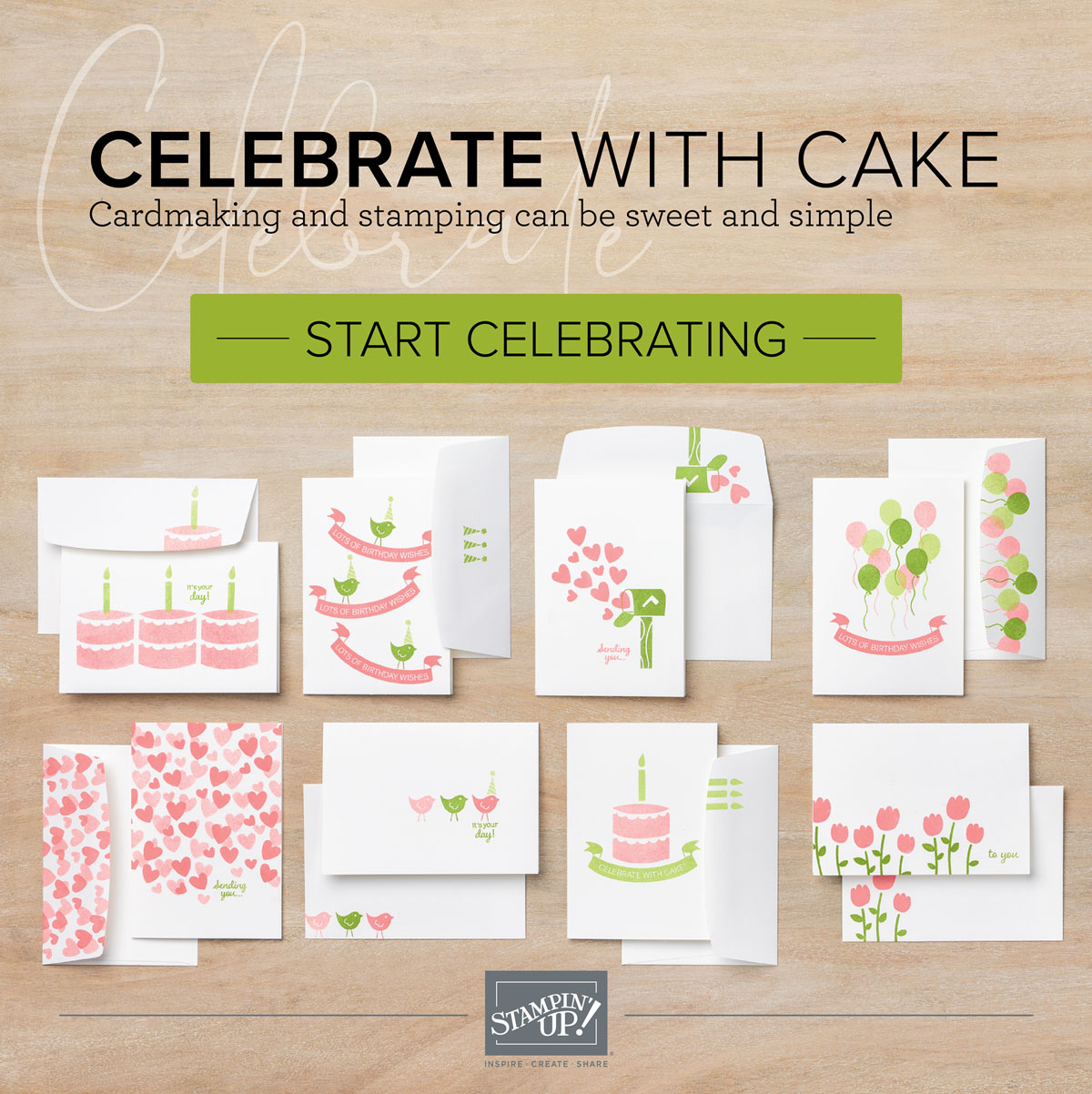 CELEBRATE WITH CAKE CARD BUNDLE