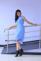 Telugu Actress Mounika UHD Stills in Blue Short Dress at Tik Tak Telugu Movie Audio Launch .COM 0015.JPG