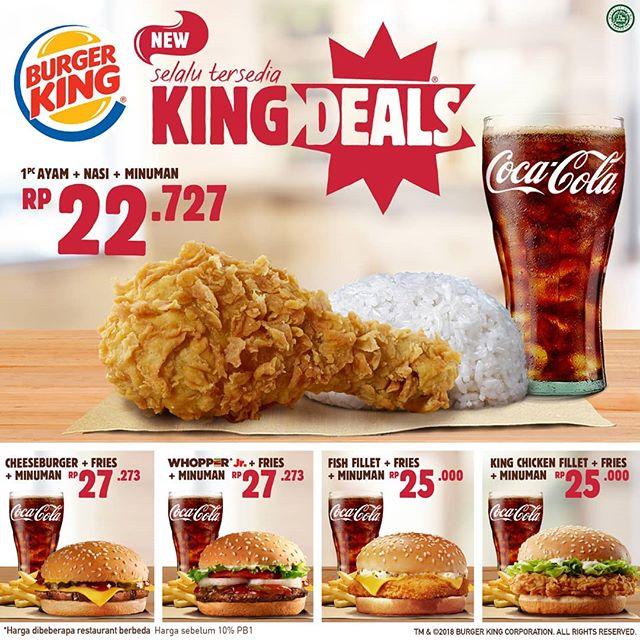 BurgerKing - Promo King Deals Nasi & Ayam Mulai 22 Ribuan