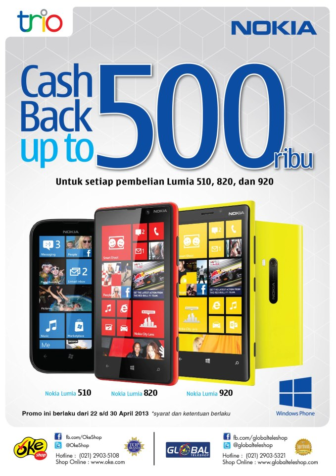Bank Yang Promo 2013 Mandiri Kartu Kredit Power Points Promo Bank Nokia Lumia 510820920 Diskon Hingga 500 Ribu Di Global Teleshop
