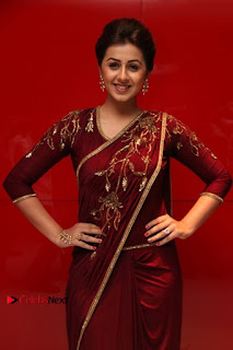 South Indian Actress Nikki Galrani Stills in Red Designer Saree at Maragadha Naanayam Tamil Movie Audio Launch  0009.jpg