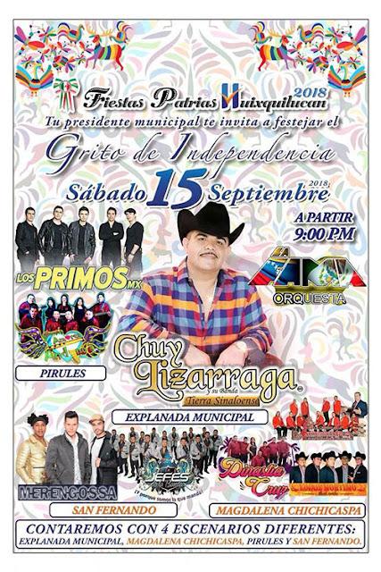 fiestas patrias Huixquilucan 2018