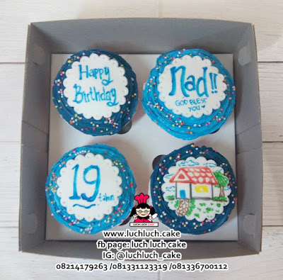 Cupcake Buttercream Lucu Simpel Untuk Ulang Tahun