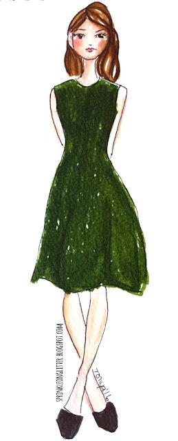 Sprinkle On Glitter Blog// Illustrated Capsule Wardrobe- dress