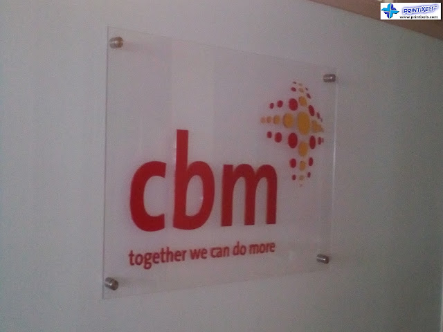 Acrylic Logo Signage With Stainless Bolts - CBM International Philippines
