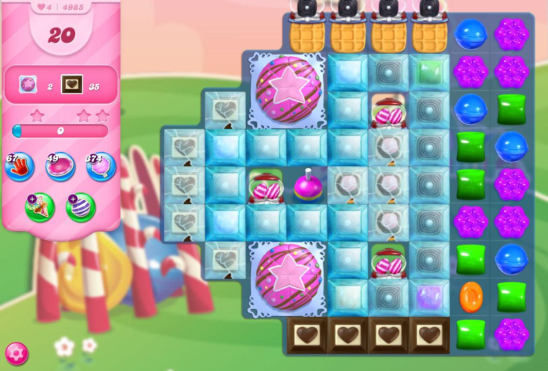 Candy Crush Saga level 4985