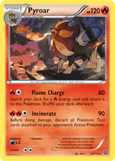 Pyroar Steam Siege Pokemon Card