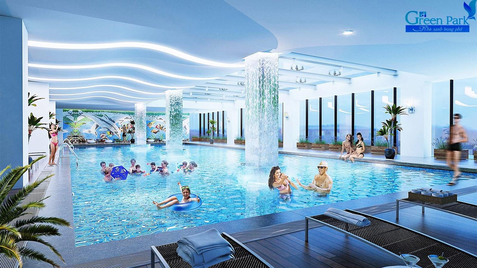 Bể bơi trong nhà dự án Phương Đông Green Park