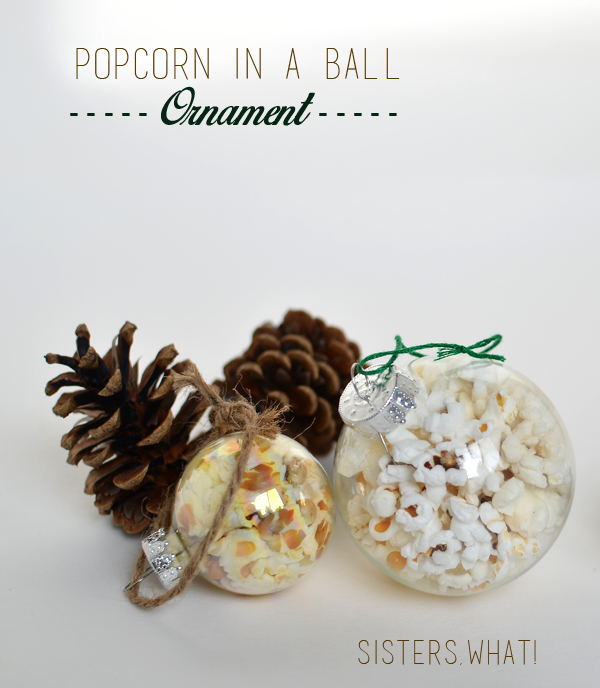 DIY popcorn Ornament