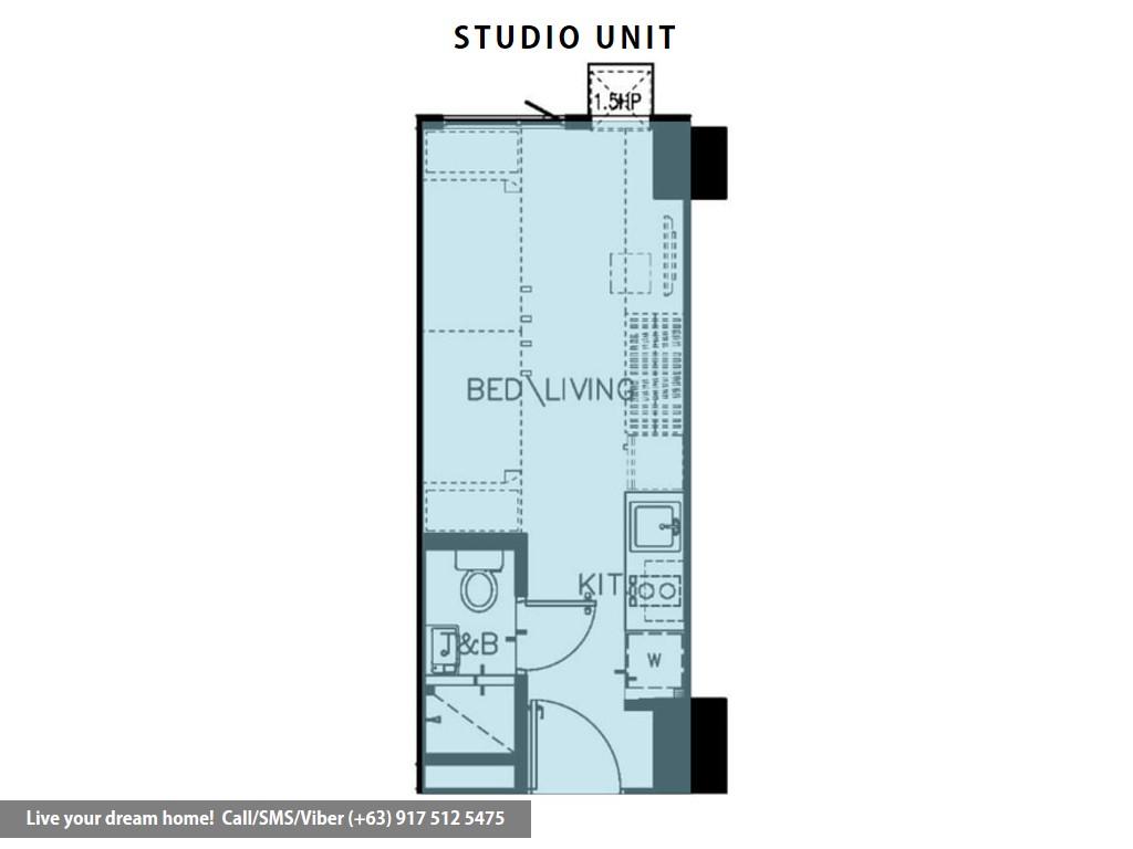 Floor Plan of SMDC Green 2 Residences - Studio Unit | Condominium for Sale Dasmarinas Cavite