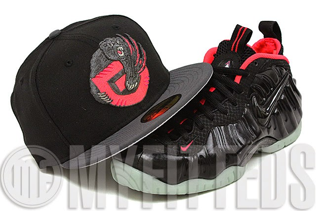 b886ab0323c Presenting the new Vancouver Grizzlies New Era Fitted Cap for the Air  Foamposite Yeezy AKA Yeezy Foams. The cap is featured in a solid jet black  and carbon ...