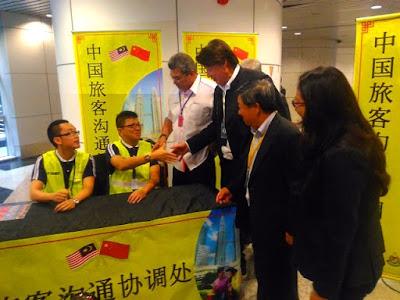 LAUNCHING OF CHINESE TRAVELERS AFFAIRS HELPDESK AT KUALA LUMPUR INTERNATIONAL AIRPORT (KLIA)