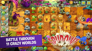 Plants vs Zombies 2 Free Mod Apk v6.7.1 Coins and Gems