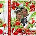 Plantilla pre-diseñada para crear portada y caratula del disco DVD matrimonial floral
